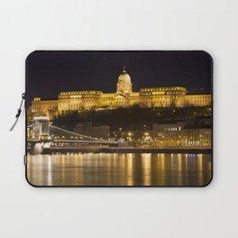 Budapest Chain Bridge And Castle Laptop Sleeve