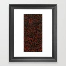 Cluster of Roses Framed Art Print