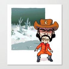 Night Cowboy Canvas Print
