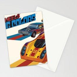 Vintage 1974 Hot Wheels Flying Colors Redline Vintage Poster Stationery Cards