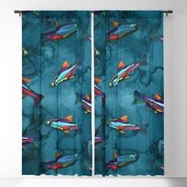 NEON TETRA FISH PATTERN Blackout Curtain