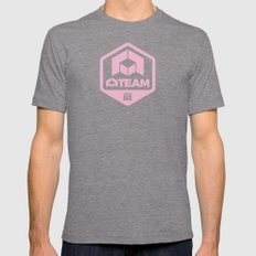A-Team Tri-Grey SMALL Mens Fitted Tee