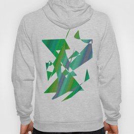 geometrical abstract shapes of green and blue Hoody