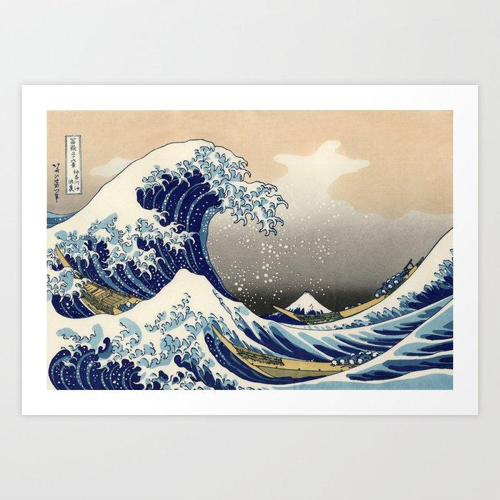 "Katsushika Hokusai ""The Great Wave off Kanagawa"" Kunstdrucke"