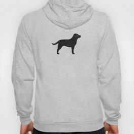 Black Labrador Retriever Dog Silhouette Hoody