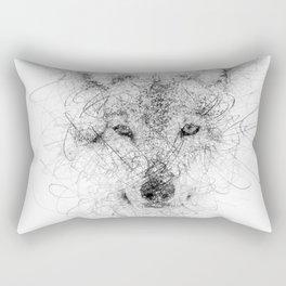 WolF Line Rectangular Pillow