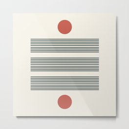 Minimalist lines no2 Metal Print