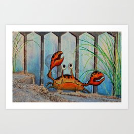 Ocypoid Crab Fort Myers Breakwall Art Print