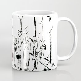 The Girl In The Red Rain Coat (Part 1)  Fine Art Acrylic Painting Coffee Mug