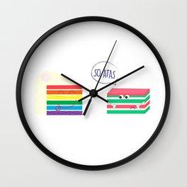 Rainbow Cake VS Kueh Lapis Wall Clock