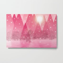 Magic winter pink Metal Print