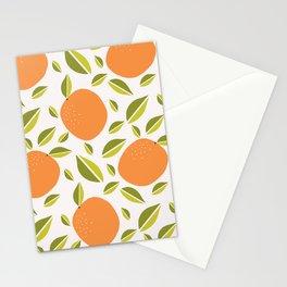 Oranges Fruit Pattern Stationery Cards