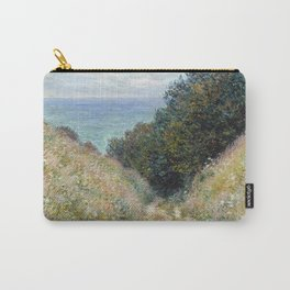 1882-Claude Monet-Road at La Cavée, Pourville-60 x 81 Carry-All Pouch