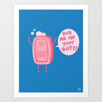 Art Prints featuring Lil' Soap by Jessica Fink
