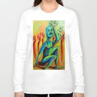 anxiety Long Sleeve T-shirts featuring Anxiety by Michael Anthony Alvarez