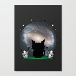 Cosmic Stargaze Cat - #02 Canvas Print