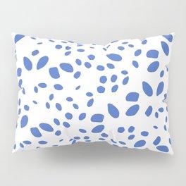 blue bright dots design, brush stroke illustration, simple, abstract and modern yet organic shape Pillow Sham