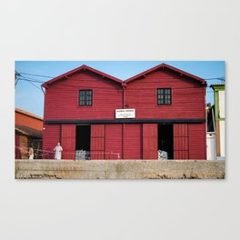 Red house Aveiro Portugal Canvas Print