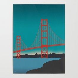 Golden Gate Bridge, San Francisco, California Landscape Poster