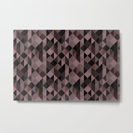 Chocolate Glass Geometric Pattern Metal Print