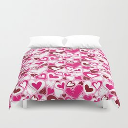 Funny Pink Love Duvet Cover