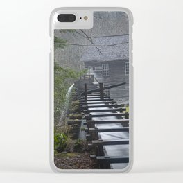 The Old Mingus Mill and Flume in the Great Smoky Mountain National Park in Tennessee Clear iPhone Case