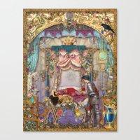 sleeping beauty Canvas Prints featuring Sleeping Beauty by Aimee Stewart