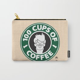 100 Cups of Coffee Carry-All Pouch