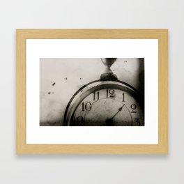 Antique Clock Framed Art Print