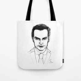 Andrew Scott as Jim Moriarty from Sherlock Etching Tote Bag