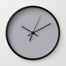 Undulating Snow ~ Grey Shadow Wall Clock