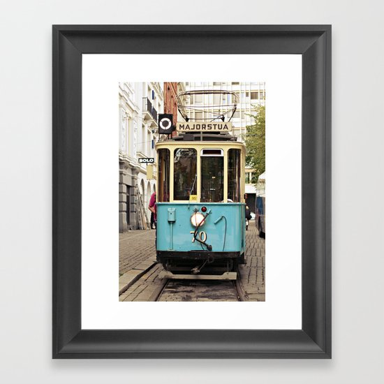 the tram Framed Art Print