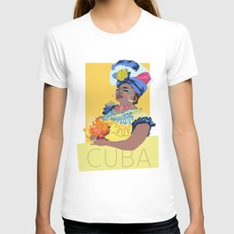 Cuban Lady With Flowers T-shirt