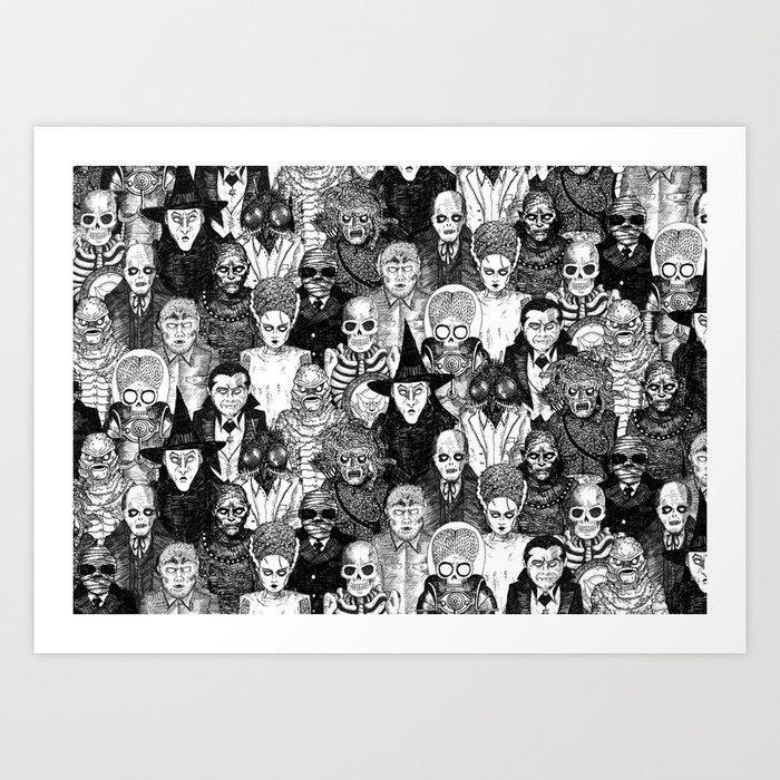 Horror Film Monsters Kunstdrucke
