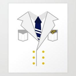 Boat Pontoon Sailing Captain Costume design Gift Art Print