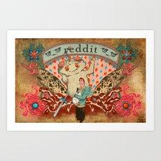 Reddit Poster Art Print