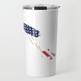Kite Surfing Patriotic American Flag Water Sports Sailboarding Action Sports Adventure Gifts Travel Mug