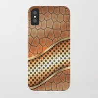 anaconda iPhone & iPod Cases featuring Blingin Anaconda by Robin Curtiss