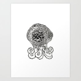 Big Eyes Octopus Art Print