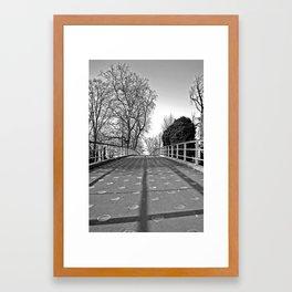 Over the bridge….. Framed Art Print