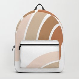 Bohemian Rainbow Neutral Warm Tone Backpack