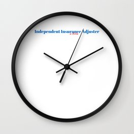 Independent Insurance Adjuster in Action Wall Clock