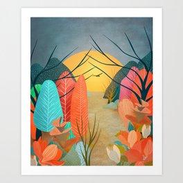 Mystery Garden III Art Print