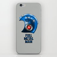 full metal alchemist iPhone & iPod Skins featuring Full Metal Man by harebrained