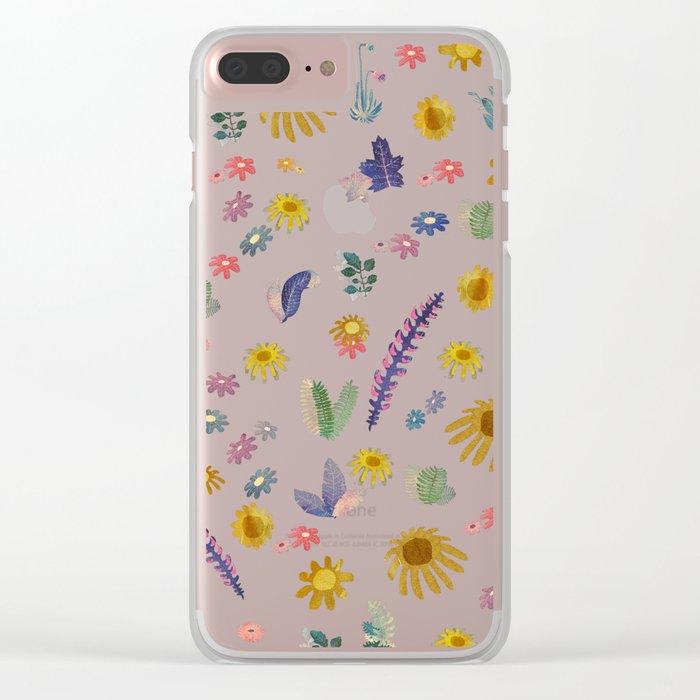 ramdom nature Clear iPhone Case