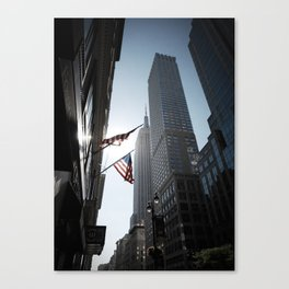 The Flags. Empire State Building, New York. Canvas Print