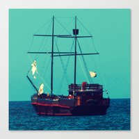 pirates Canvas Prints featuring Pirates by Endless Summer