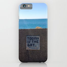 Today is a gift quote | Australia Beach Photography | Colored photo art print iPhone Case