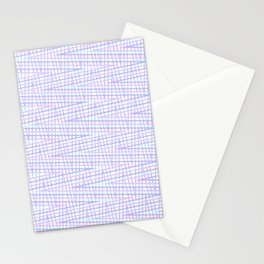 Colorful Trippy Pastel Zig-Zag Stationery Cards