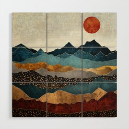 Amber Dusk Wood Wall Art